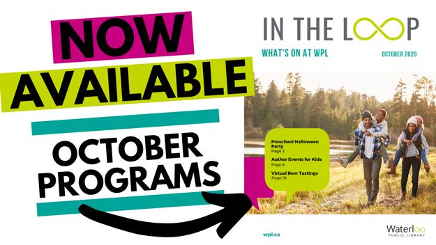 October 2020 In the Loop Program and Events Guide - cover