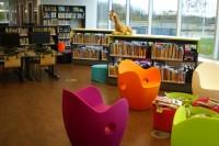 Photo of the inside of a library