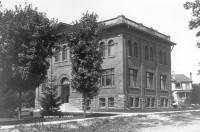 Photo of the original Carnegie Waterloo Free Library
